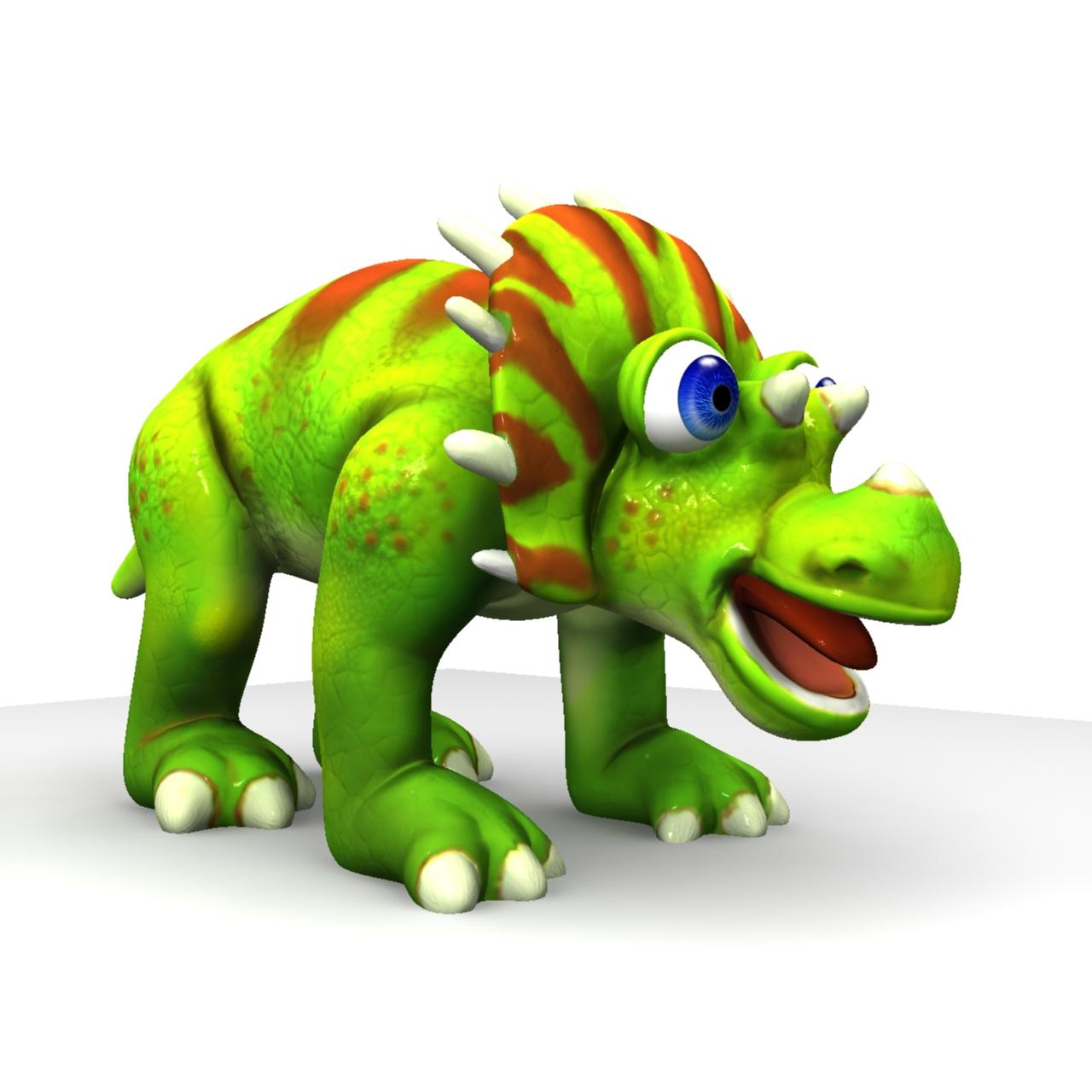 cizgi triceratops 3d model max fbx obj 212436