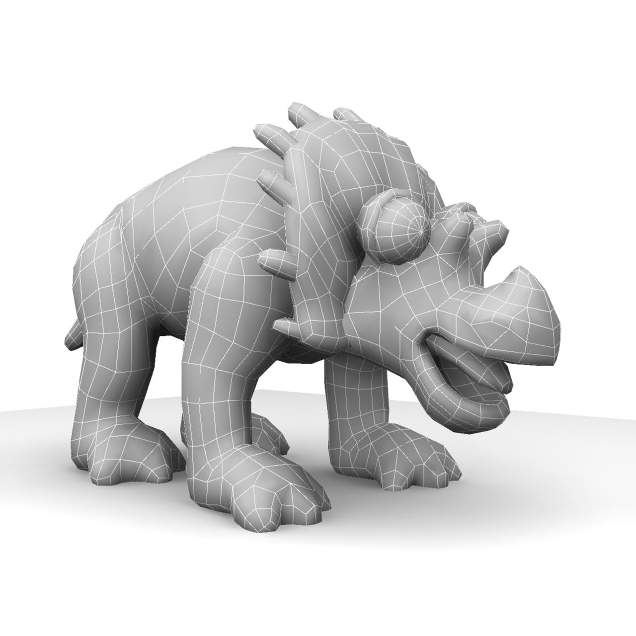 cizgi triceratops 3d model max fbx obj 212438