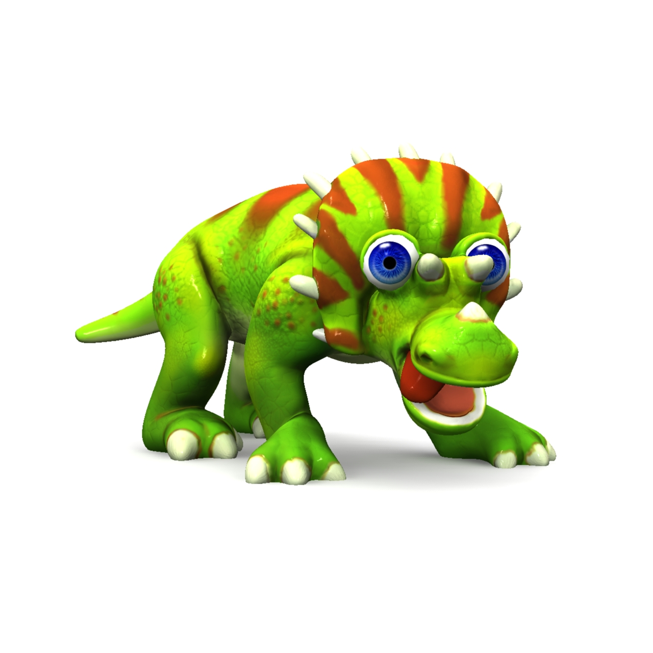 cizgi triceratops 3d model max fbx obj 212439