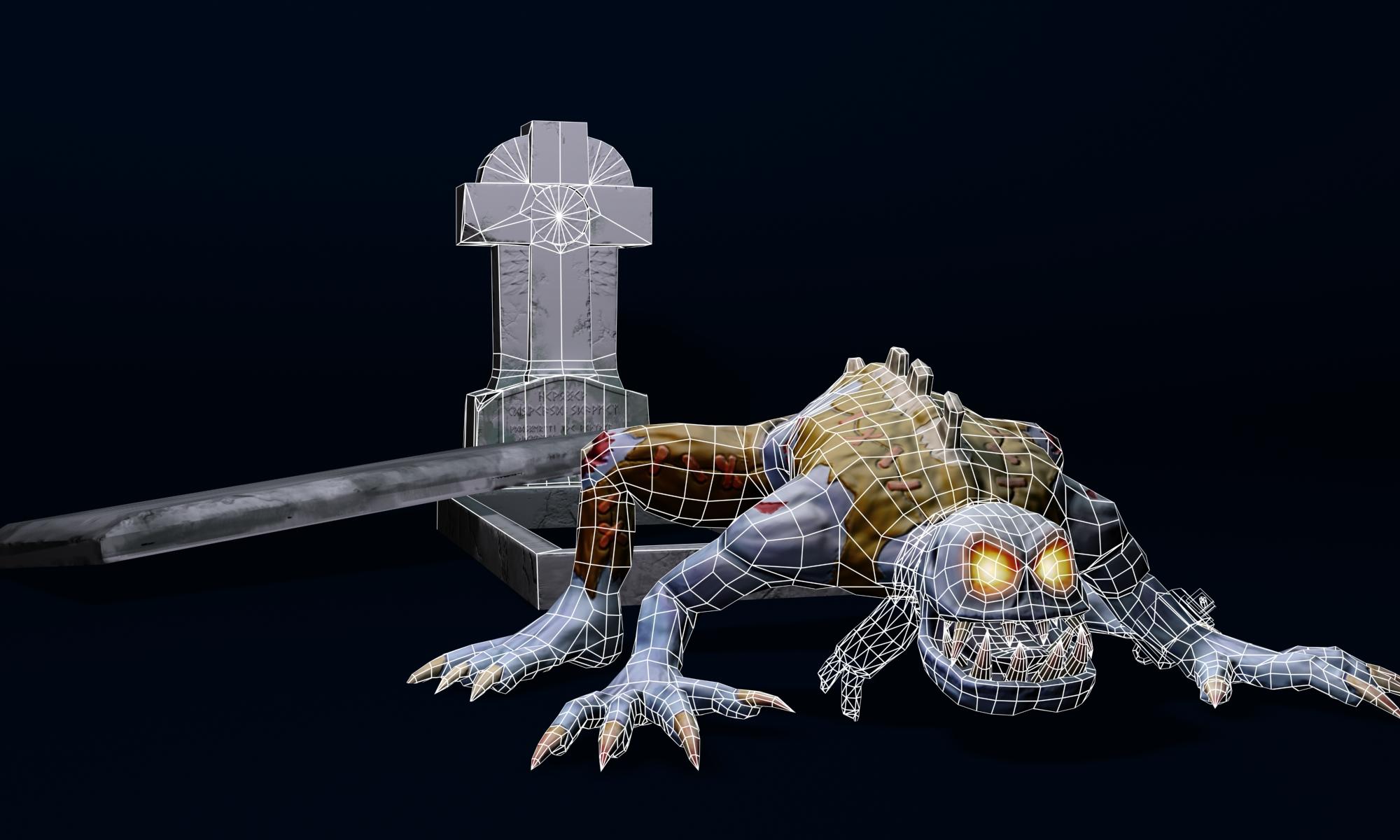 zombie (ghoul) 3d model max fbx obj 212442