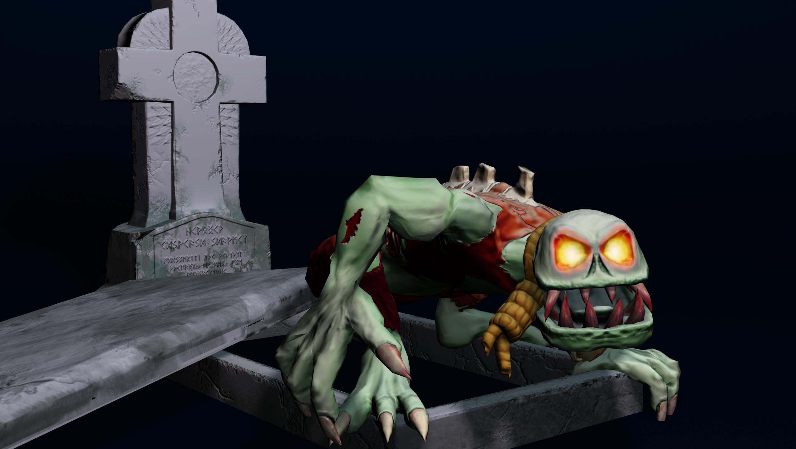 zombie (ghoul) 3d model max fbx obj 212443