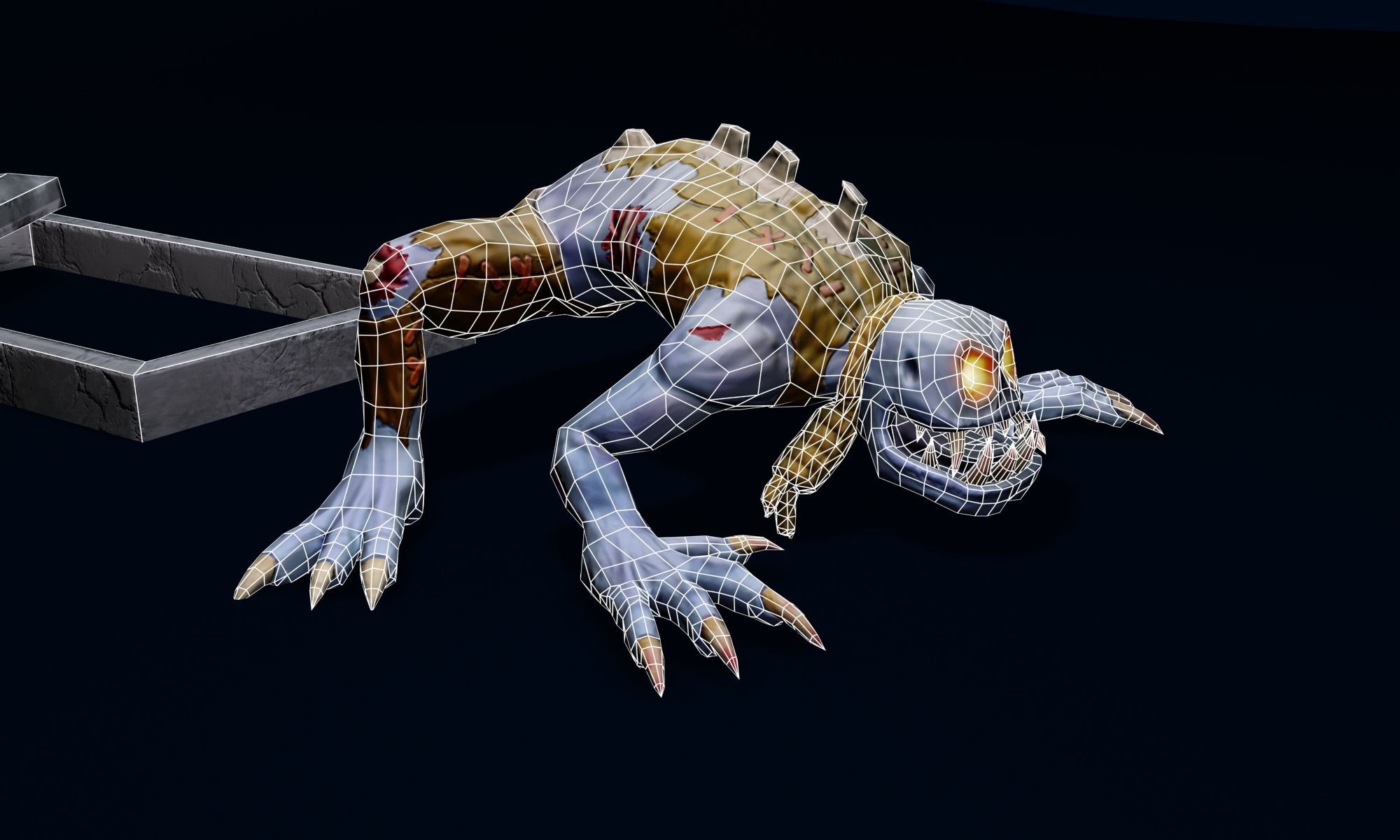 zombie (ghoul) 3d model max fbx obj 212444