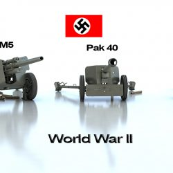 Anti tank guns ww2 3d model 0