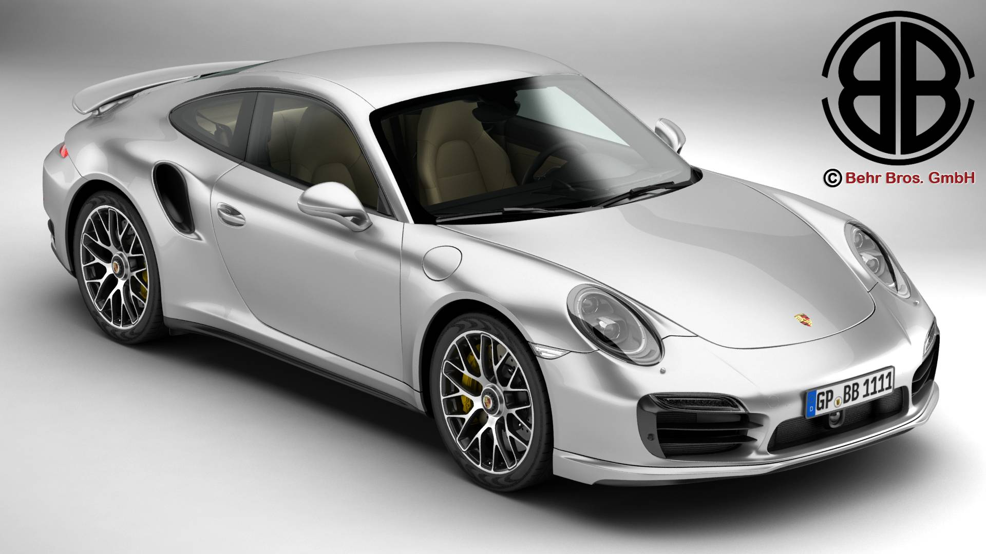 porsche 911 turbo s 2014 3d model 3ds max fbx c4d lwo ma mb obj 212475
