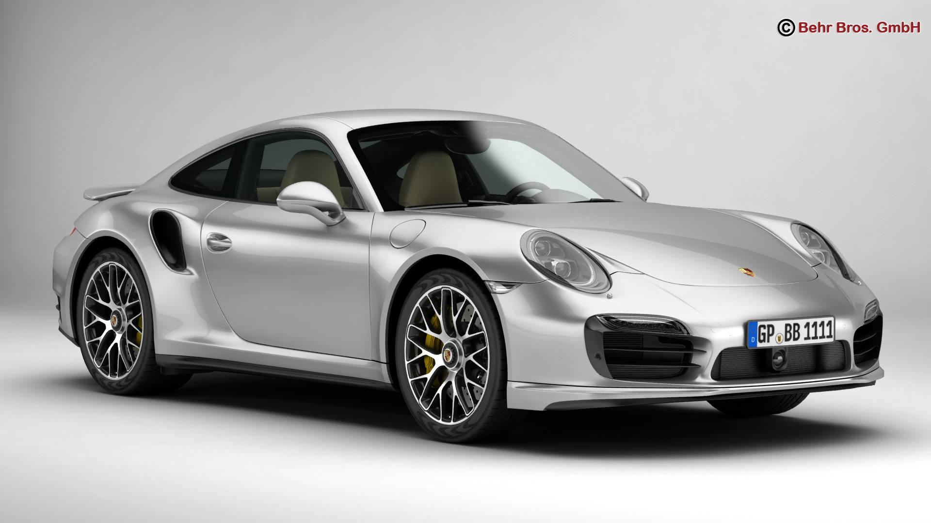 porsche 911 turbo s 2014 3d model 3ds max fbx c4d lwo ma mb obj 212476
