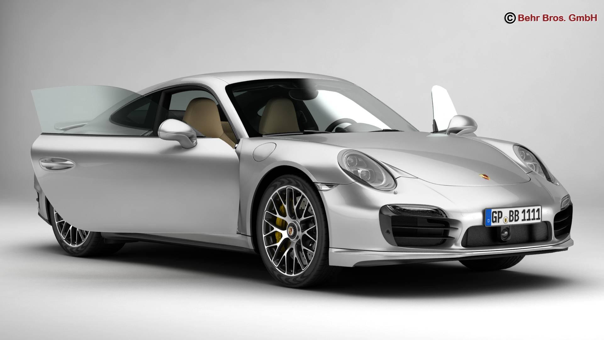 porsche 911 turbo s 2014 3d model 3ds max fbx c4d lwo ma mb obj 212477