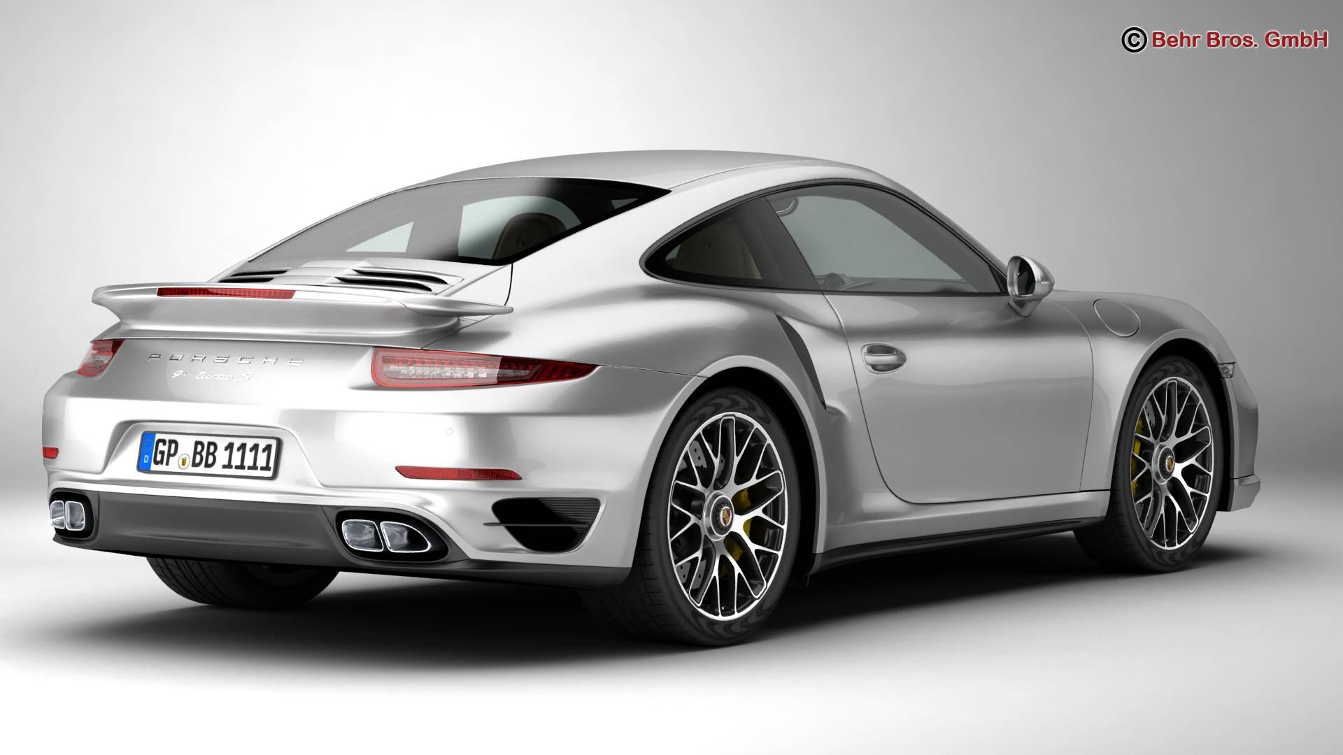 porsche 911 turbo s 2014 3d model 3ds max fbx c4d lwo ma mb obj 212478