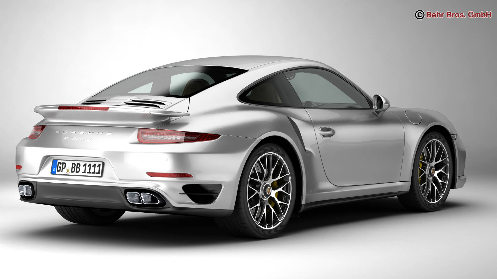 porsche 911 turbo s 2014 3d model buy porsche 911 turbo s 2014 3d model flatpyramid. Black Bedroom Furniture Sets. Home Design Ideas