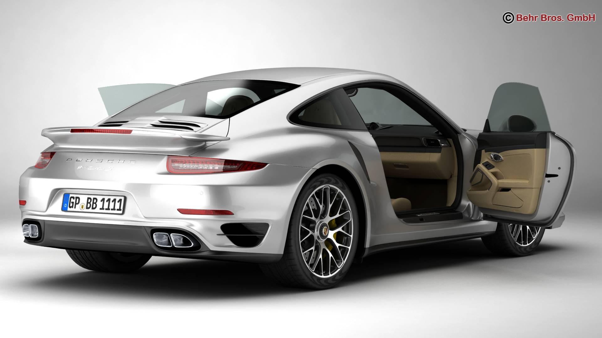 porsche 911 turbo s 2014 3d model 3ds max fbx c4d lwo ma mb obj 212479