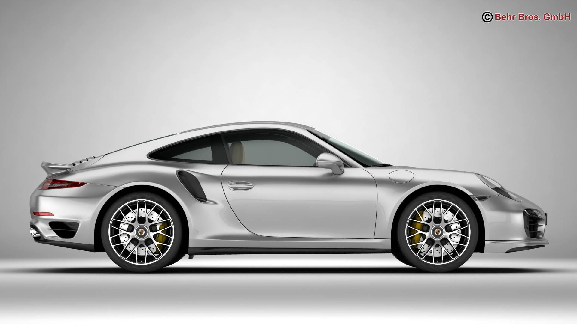 porsche 911 turbo s 2014 3d model 3ds max fbx c4d lwo ma mb obj 212480