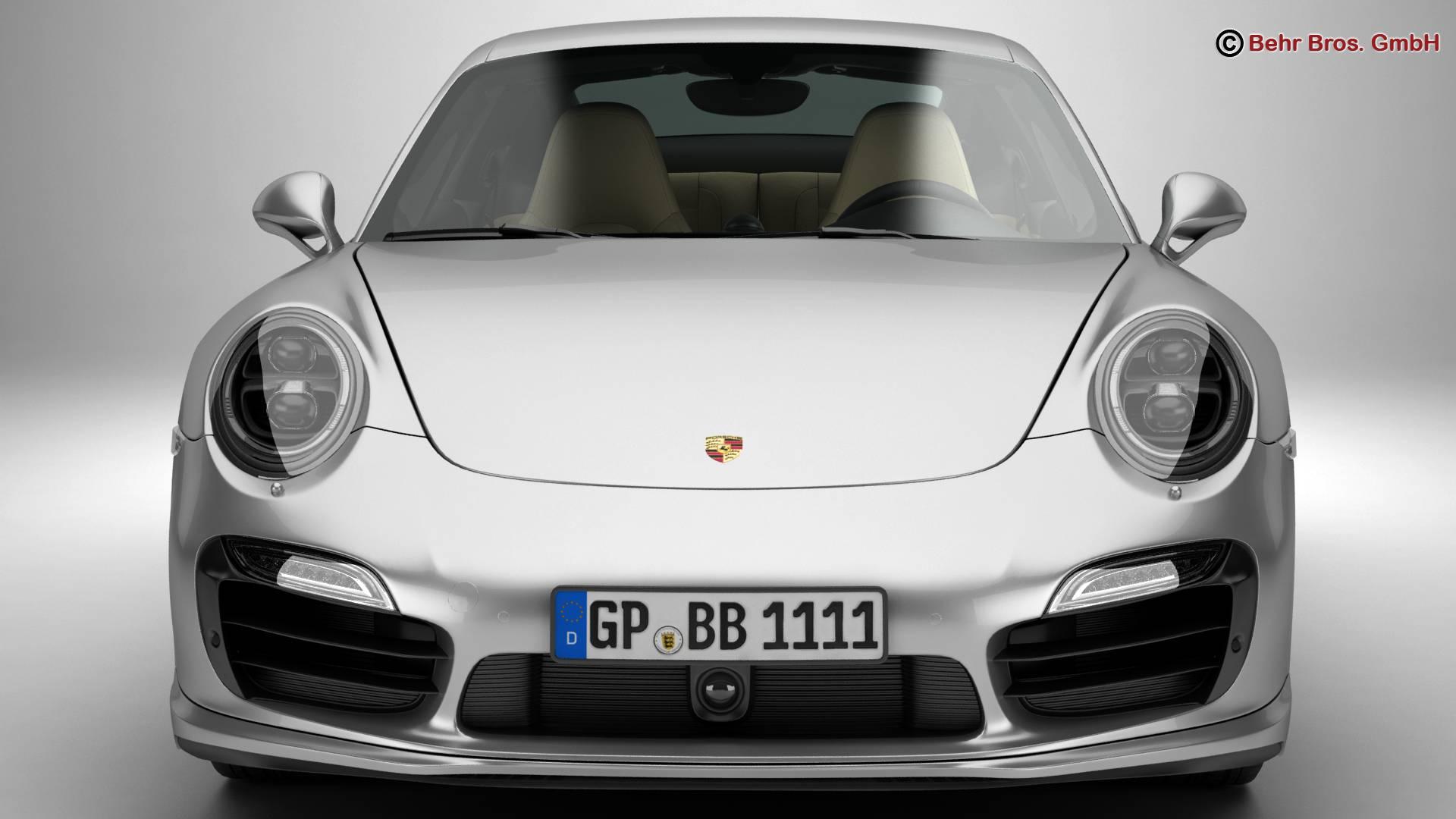 porsche 911 turbo s 2014 3d model 3ds max fbx c4d lwo ma mb obj 212481