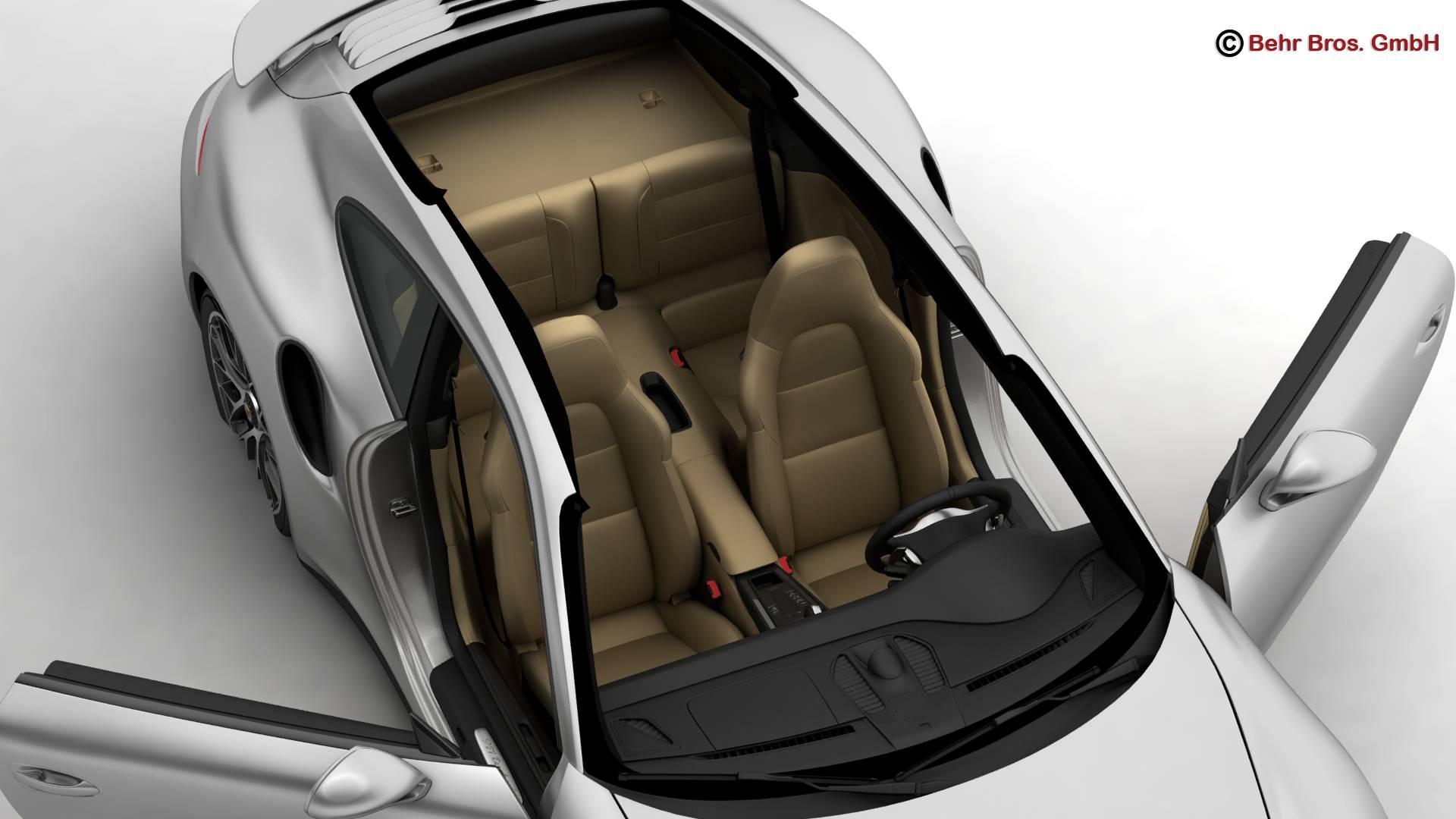 porsche 911 turbo s 2014 3d model 3ds max fbx c4d lwo ma mb obj 212482