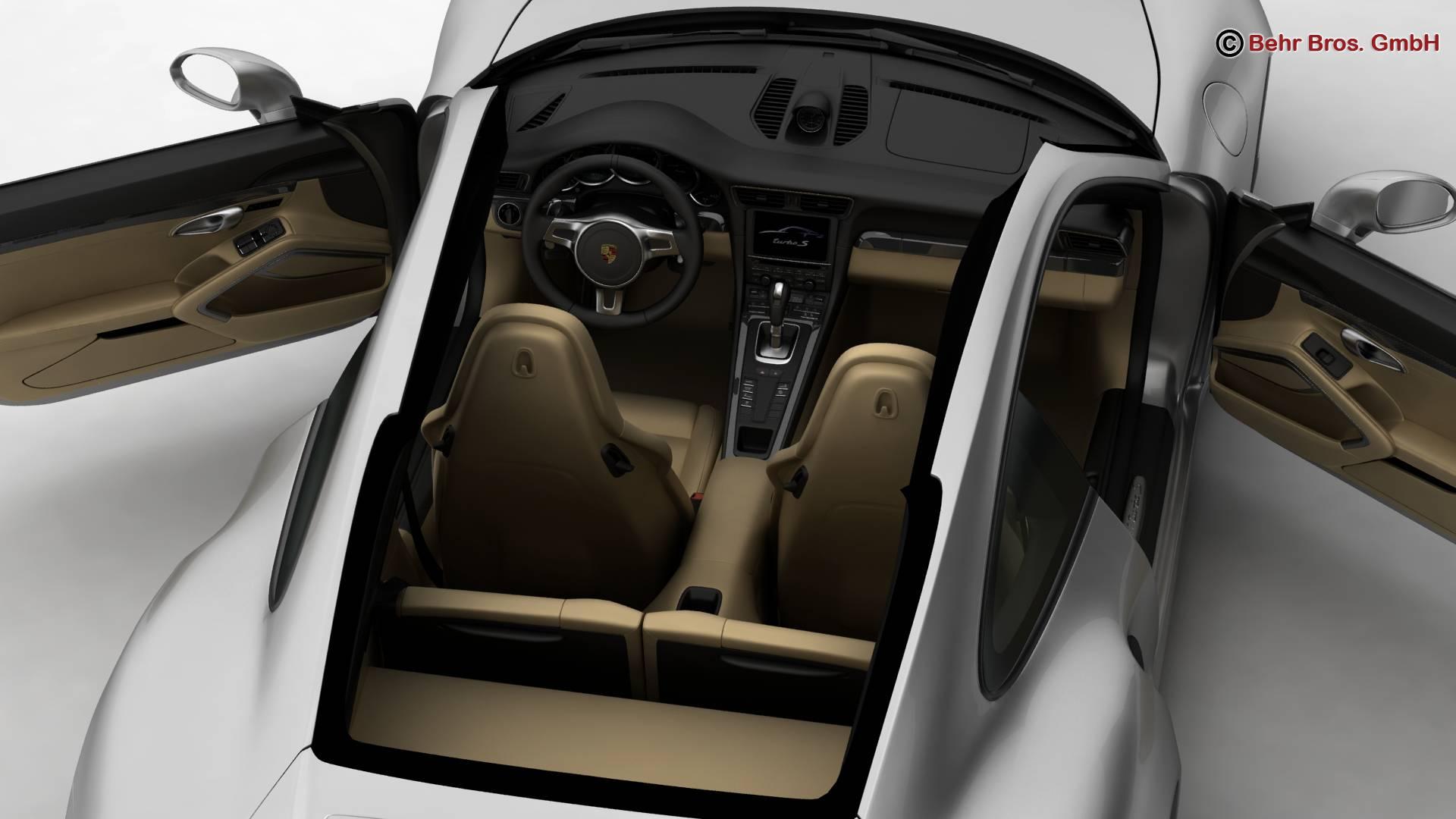 porsche 911 turbo s 2014 3d model 3ds max fbx c4d lwo ma mb obj 212487