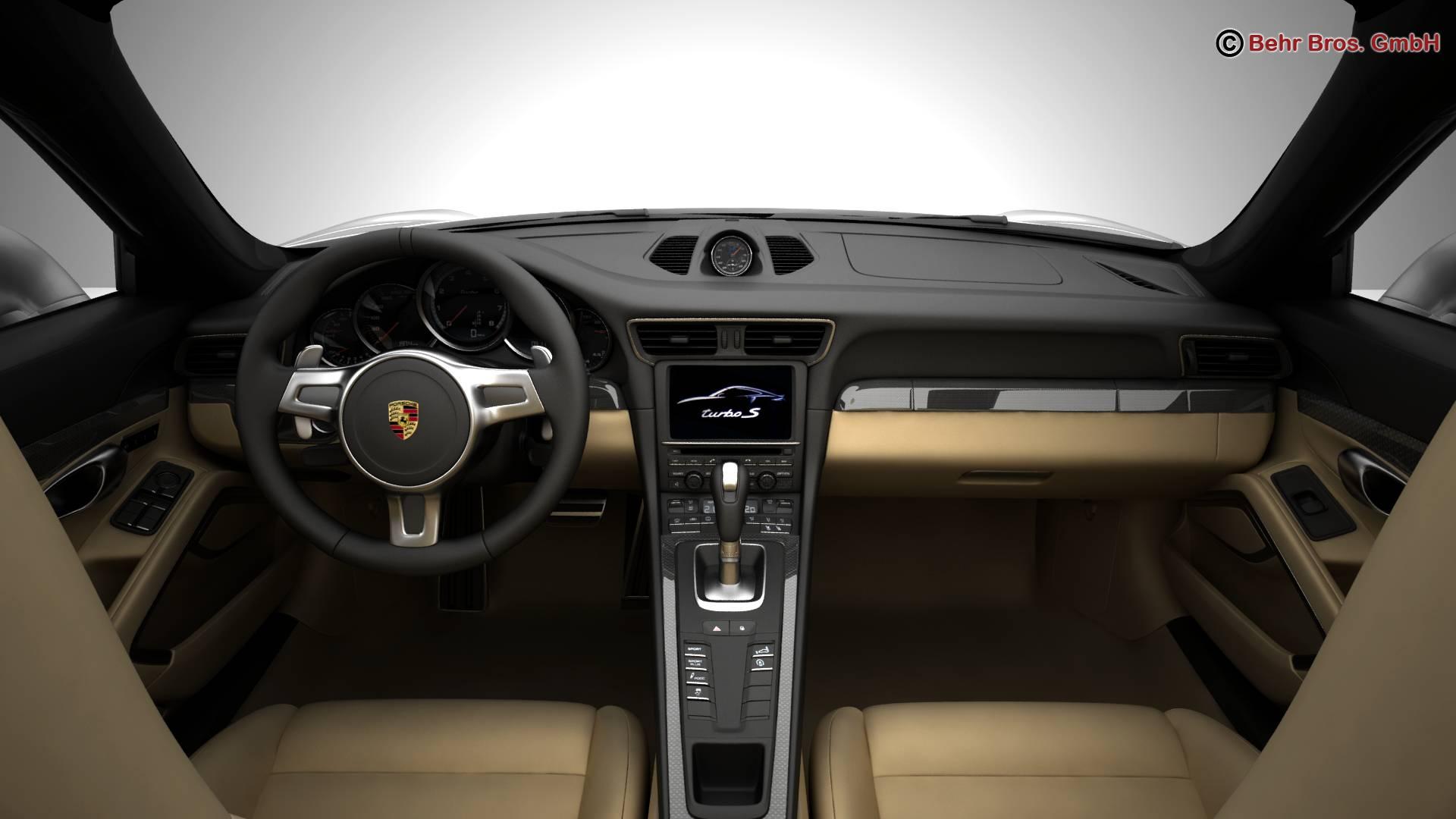 porsche 911 turbo s 2014 3d model 3ds max fbx c4d lwo ma mb obj 212488