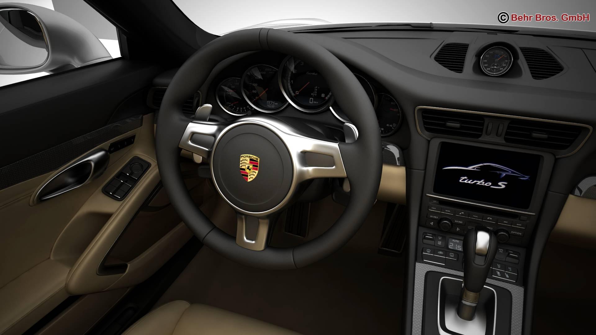 porsche 911 turbo s 2014 3d model 3ds max fbx c4d lwo ma mb obj 212489