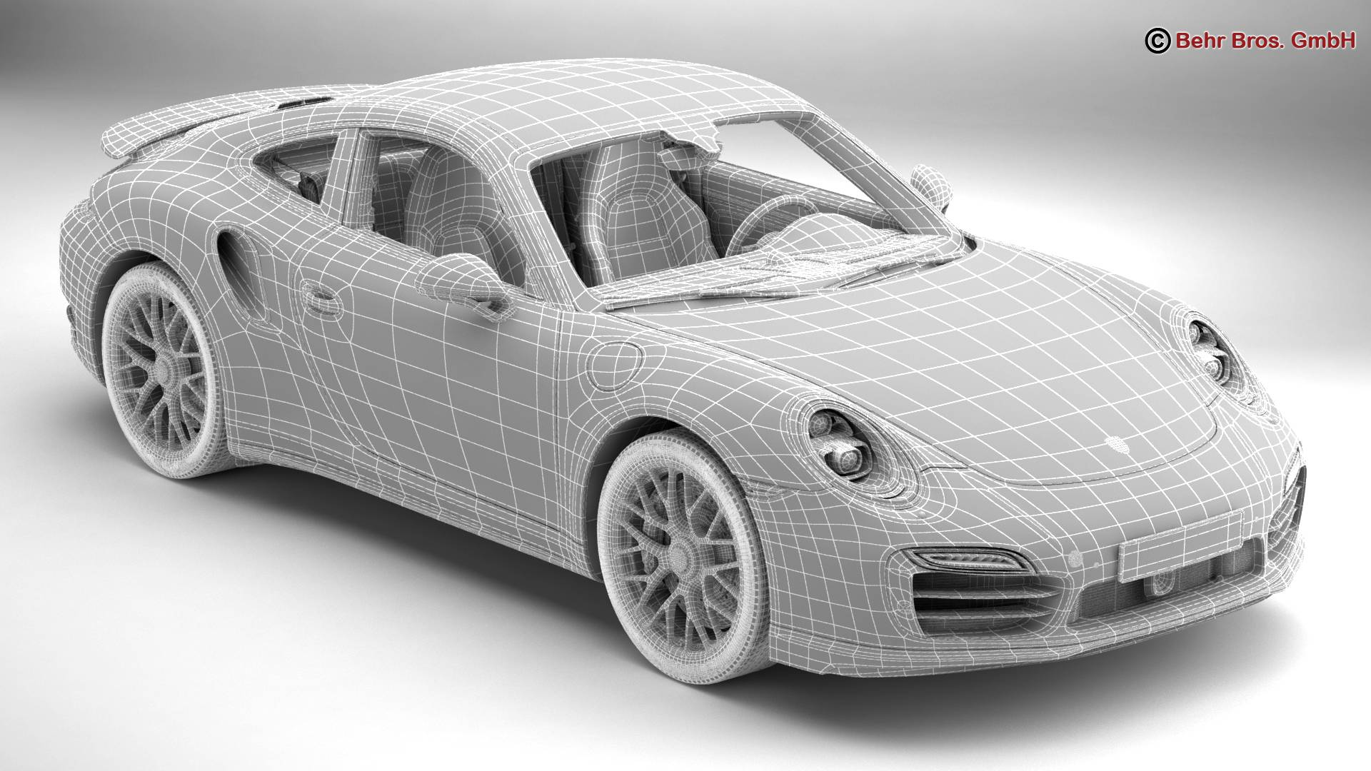 porsche 911 turbo s 2014 3d model 3ds max fbx c4d lwo ma mb obj 212490