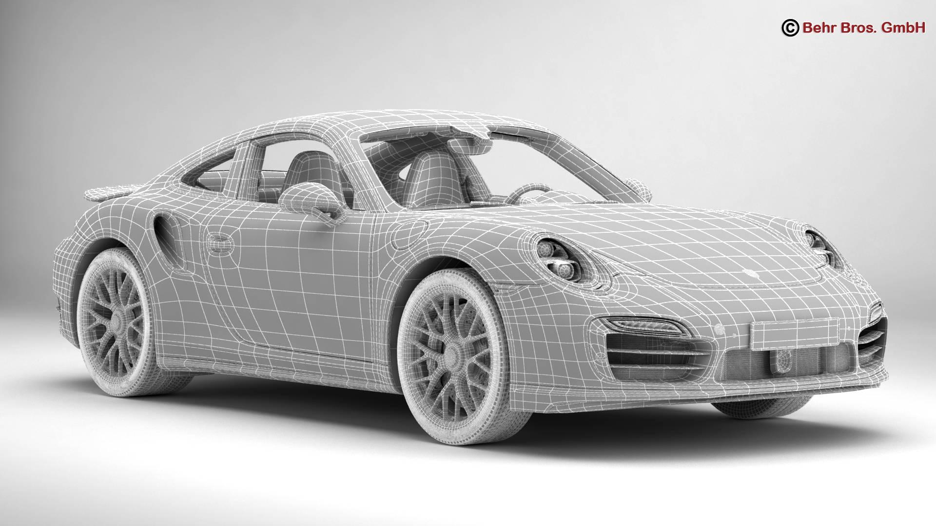 porsche 911 turbo s 2014 3d model 3ds max fbx c4d lwo ma mb obj 212491