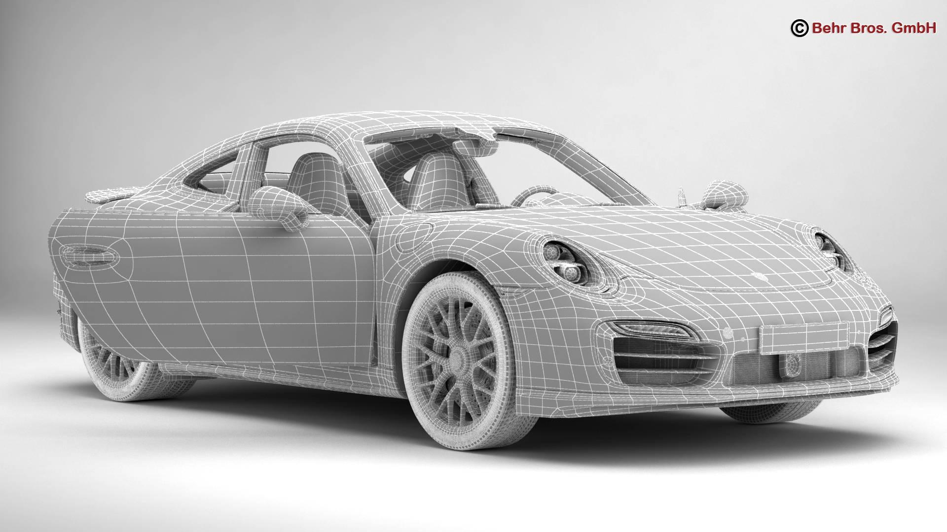 porsche 911 turbo s 2014 3d model 3ds max fbx c4d lwo ma mb obj 212492
