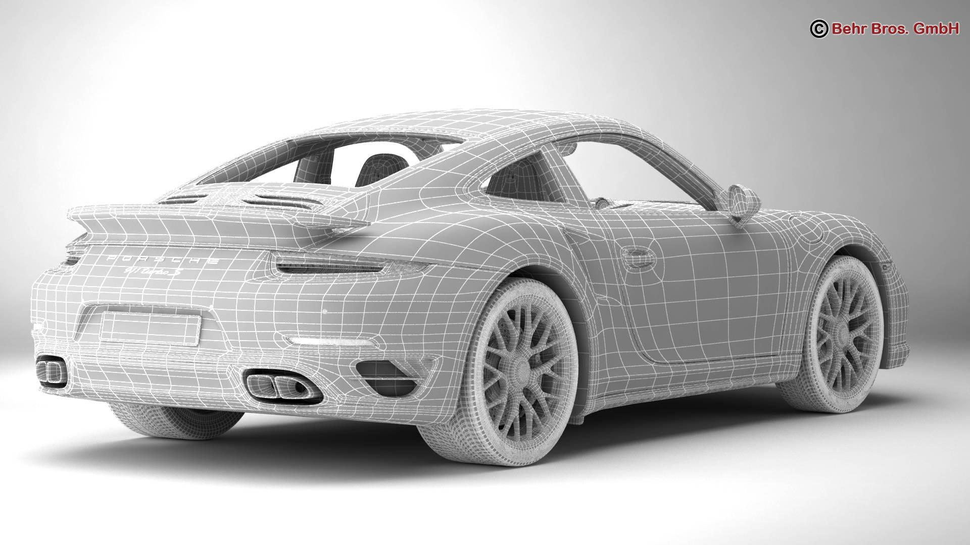 porsche 911 turbo s 2014 3d model 3ds max fbx c4d lwo ma mb obj 212493