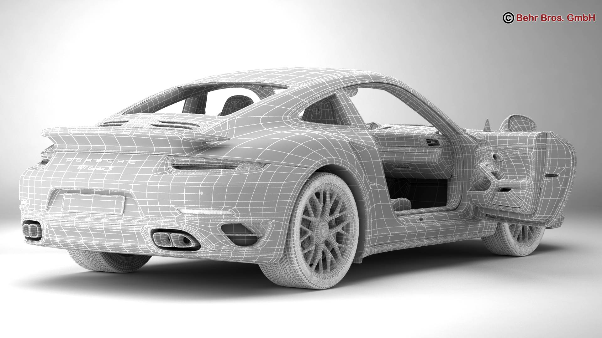 porsche 911 turbo s 2014 3d model 3ds max fbx c4d lwo ma mb obj 212494