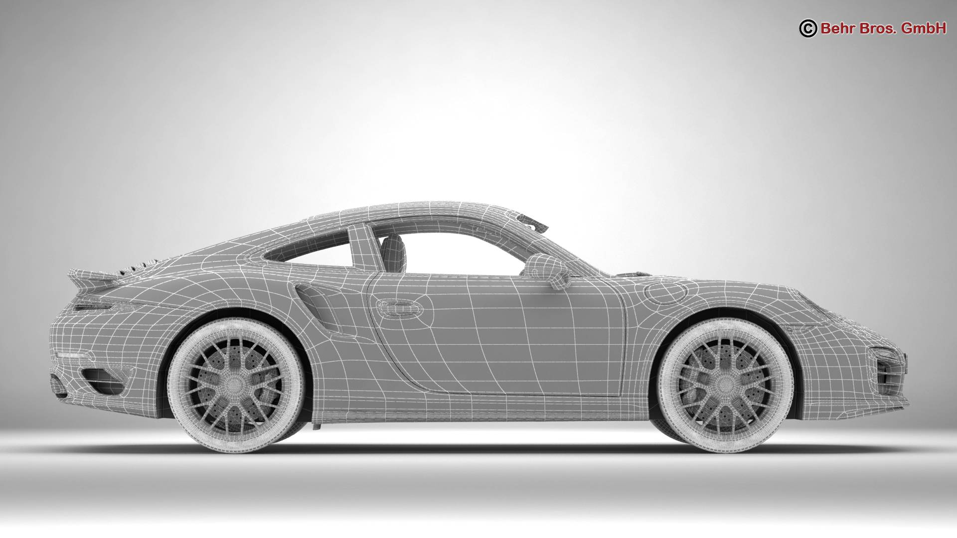 porsche 911 turbo s 2014 3d model 3ds max fbx c4d lwo ma mb obj 212495