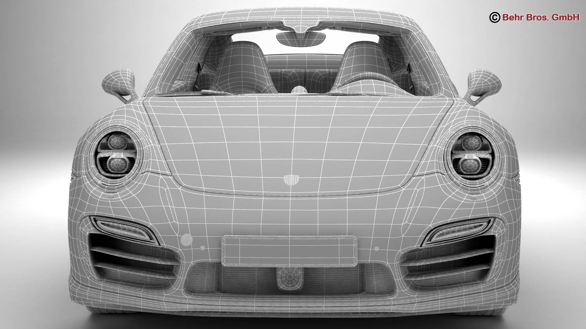 porsche 911 turbo s 2014 3d model 3ds max fbx c4d lwo ma mb obj 212496