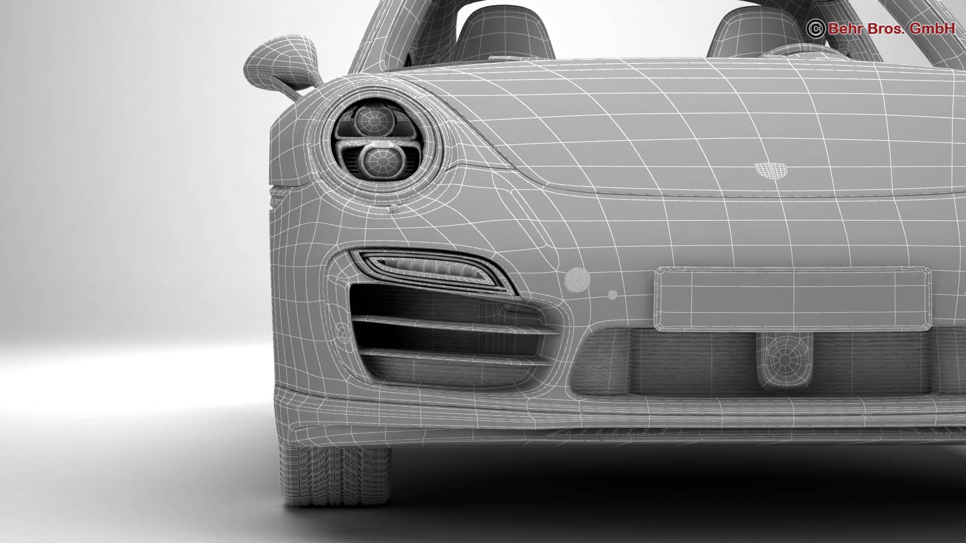porsche 911 turbo s 2014 3d model 3ds max fbx c4d lwo ma mb obj 212497
