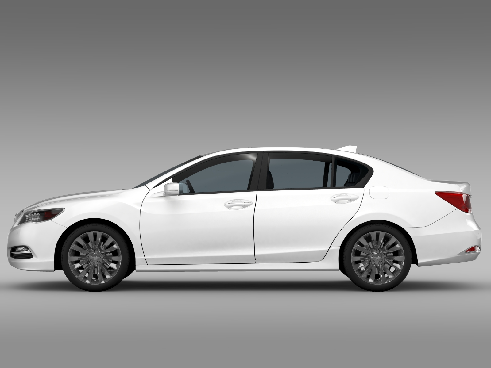 Honda Legend 2015 3d Model Flatpyramid