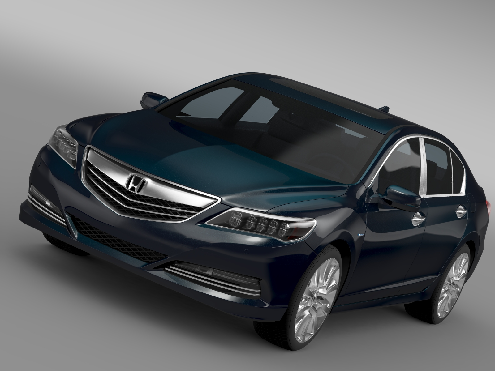 honda legend hybrid 2015 3d model 3ds max fbx c4d lwo ma mb hrc xsi obj 212523