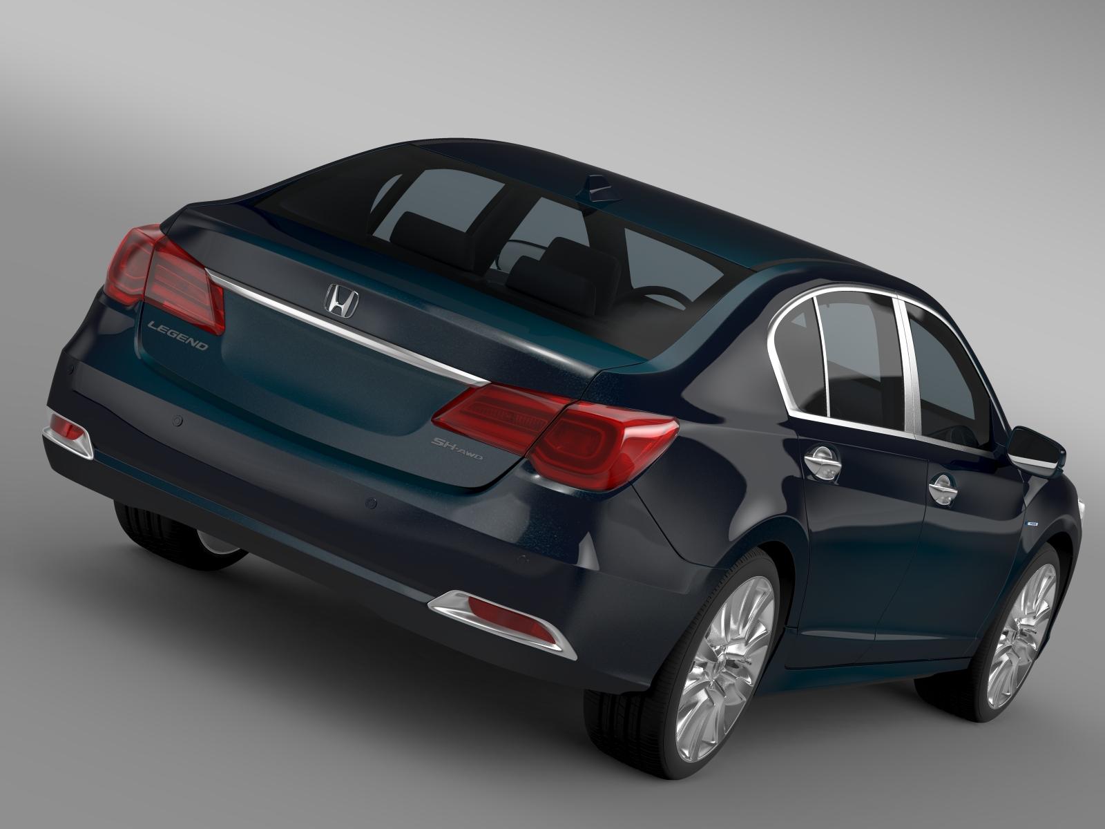 Honda Legend Hybrid 2015 3D Model - Buy Honda Legend ...