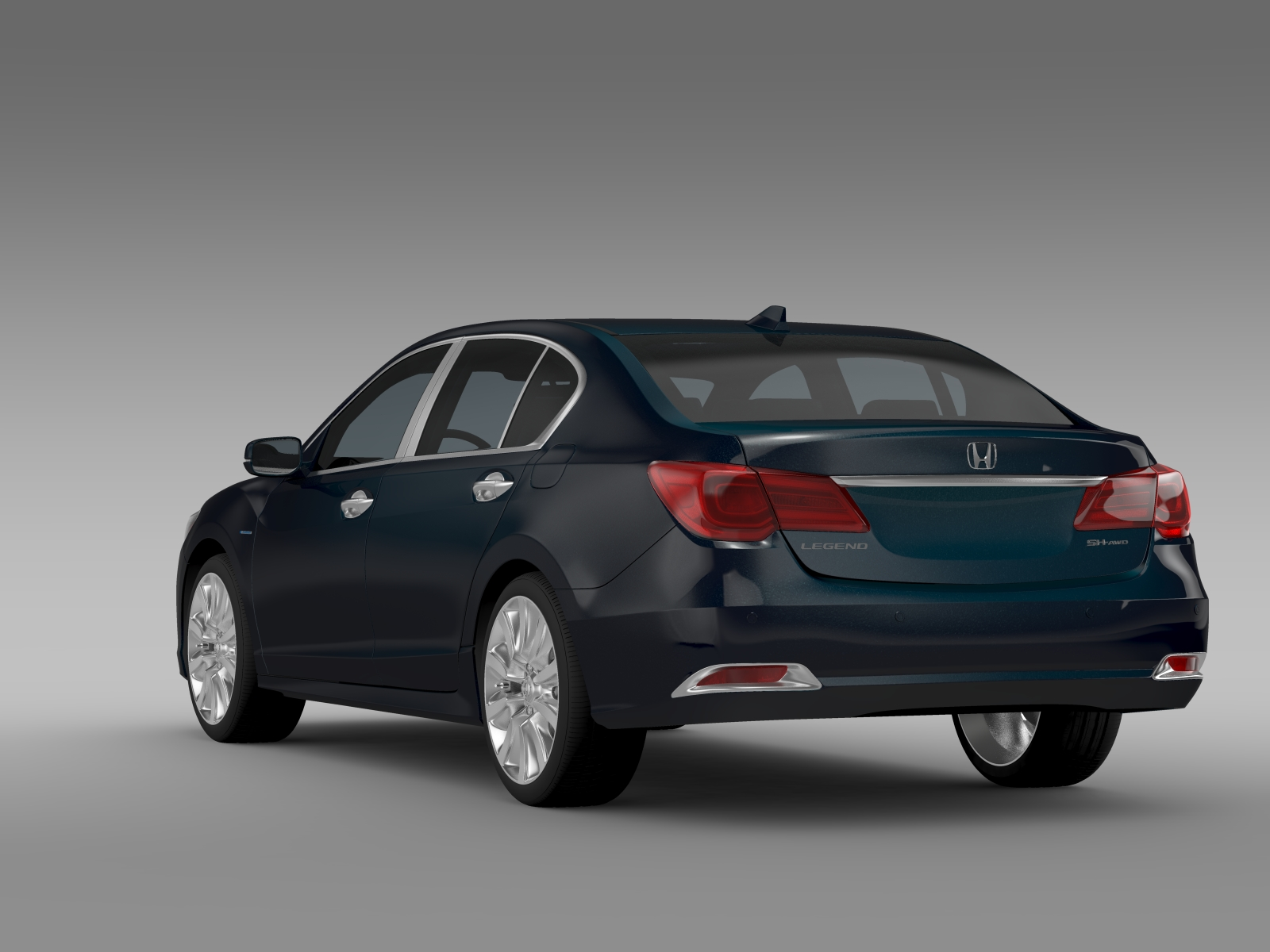 Honda Legend Hybrid 2015 3d Model Flatpyramid