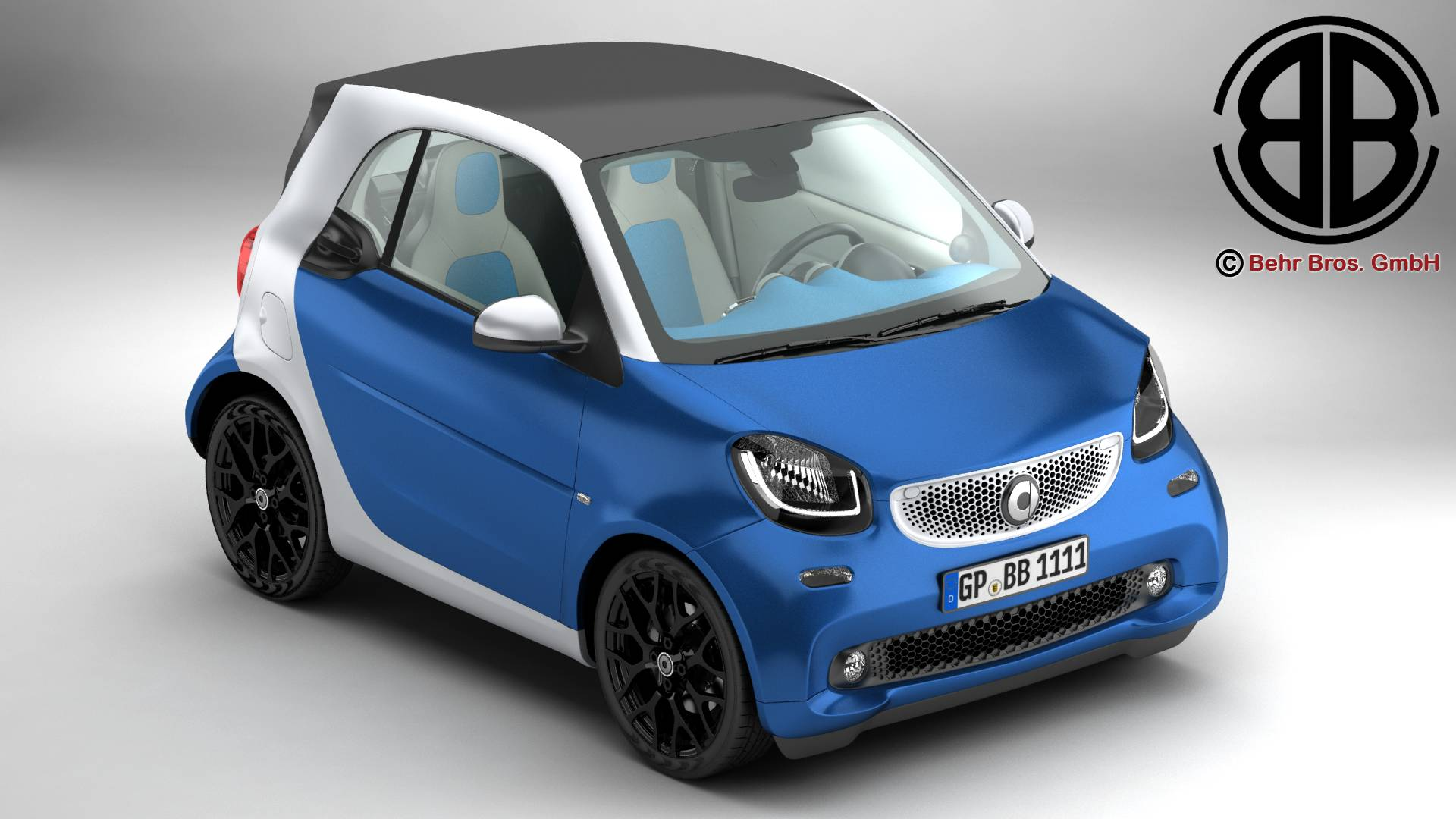 smart fortwo 2015 3d model flatpyramid. Black Bedroom Furniture Sets. Home Design Ideas