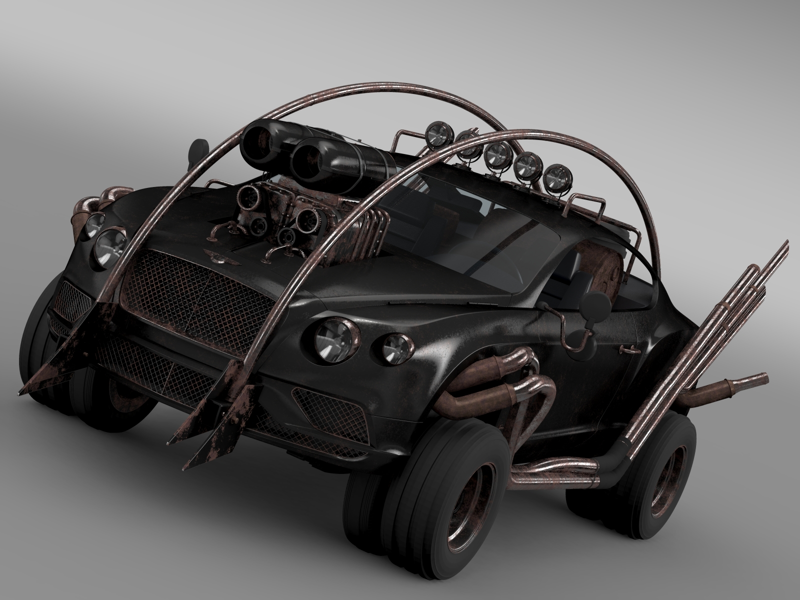 mad max grizzly bentley continental gt 2015 3d model 3ds max fbx c4d lwo ma mb hrc xsi obj 212614