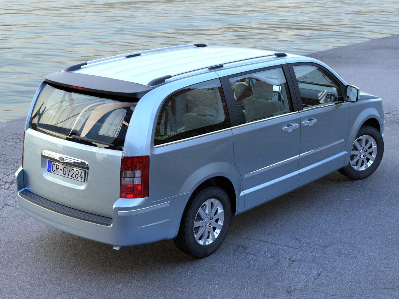 Chrysler Grand Voyager 2010 3d model 3ds max fbx c4d obj