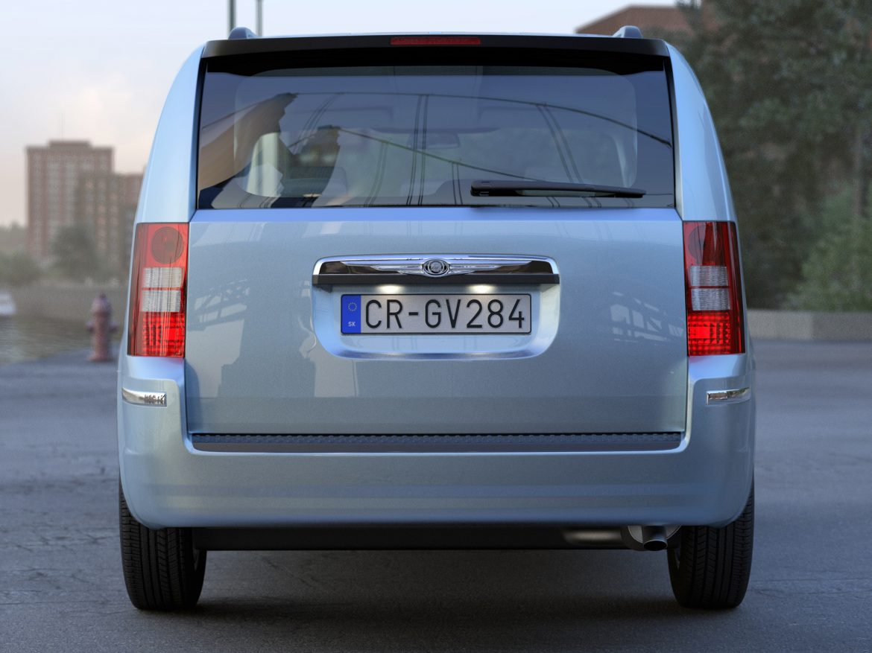 Chrysler Grand Voyager 2010 3d model 0