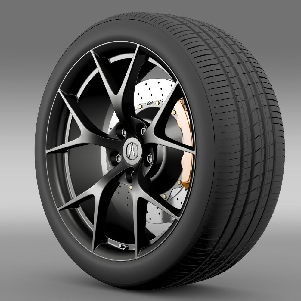 acura nsx wheel 2015 3d model 3ds max fbx c4d lwo ma mb hrc xsi obj 212647