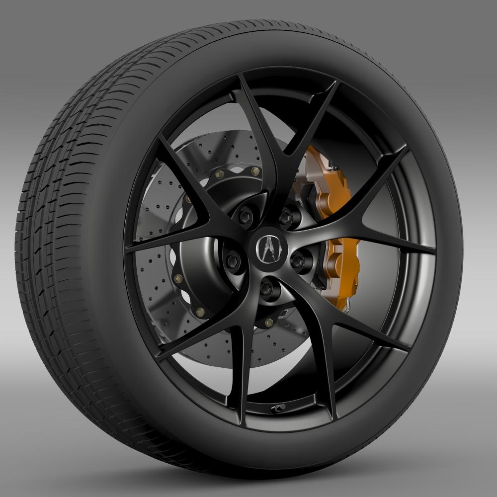 acura nsx wheel 2015 3d model 3ds max fbx c4d lwo ma mb hrc xsi obj 212649