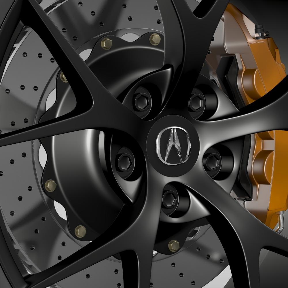 acura nsx wheel 2015 3d model 3ds max fbx c4d lwo ma mb hrc xsi obj 212650