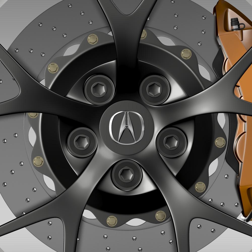acura nsx wheel 2015 3d model 3ds max fbx c4d lwo ma mb hrc xsi obj 212652