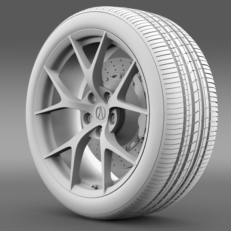 acura nsx wheel 2015 3d model 3ds max fbx c4d lwo ma mb hrc xsi obj 212653