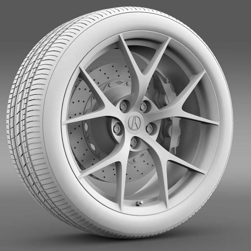 acura nsx wheel 2015 3d model 3ds max fbx c4d lwo ma mb hrc xsi obj 212654