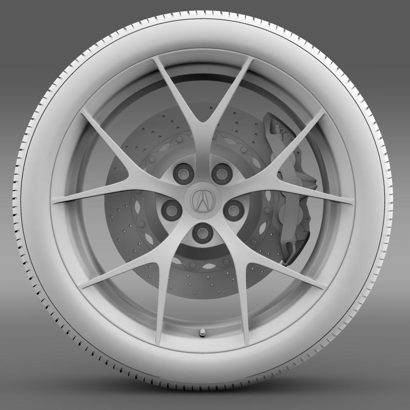 acura nsx wheel 2015 3d model 3ds max fbx c4d lwo ma mb hrc xsi obj 212655