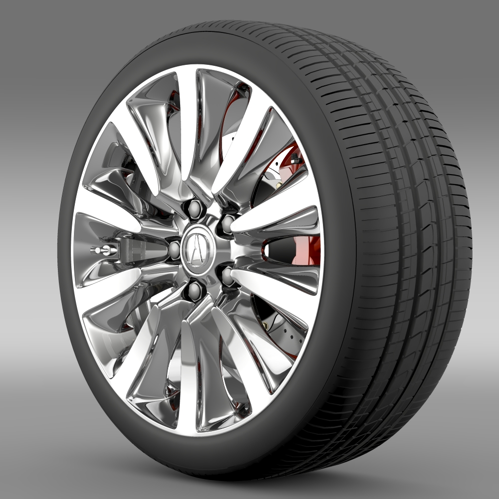 acura rlx sport hybrid wheel 3d model 3ds max fbx c4d lwo ma mb hrc xsi obj 212658