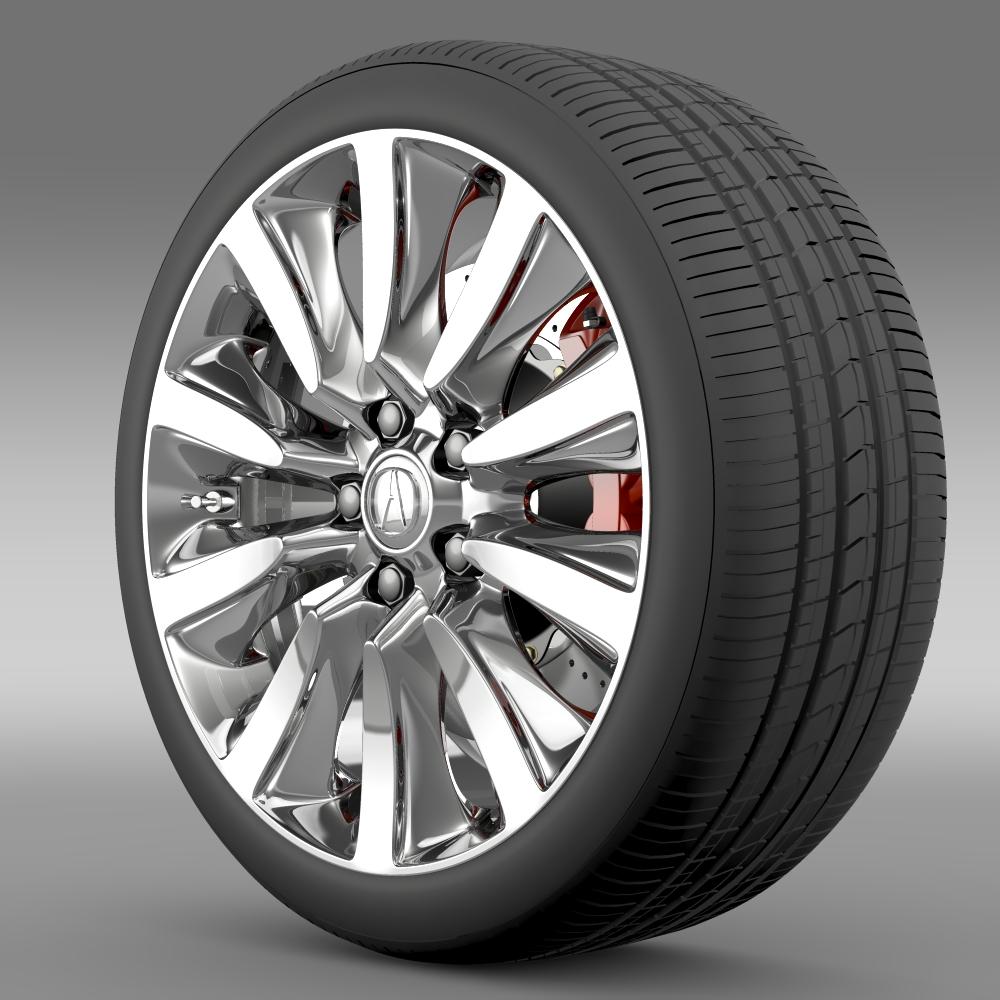 Acura RLX Sport Hybrid wheel 3d model 3ds max fbx c4d lwo lws lw ma mb  obj 212658