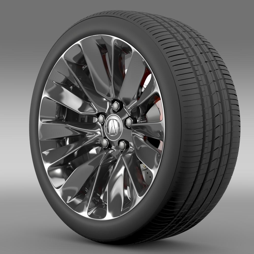 acura rlx wheel 3d model 3ds max fbx c4d lwo ma mb hrc xsi obj 212691