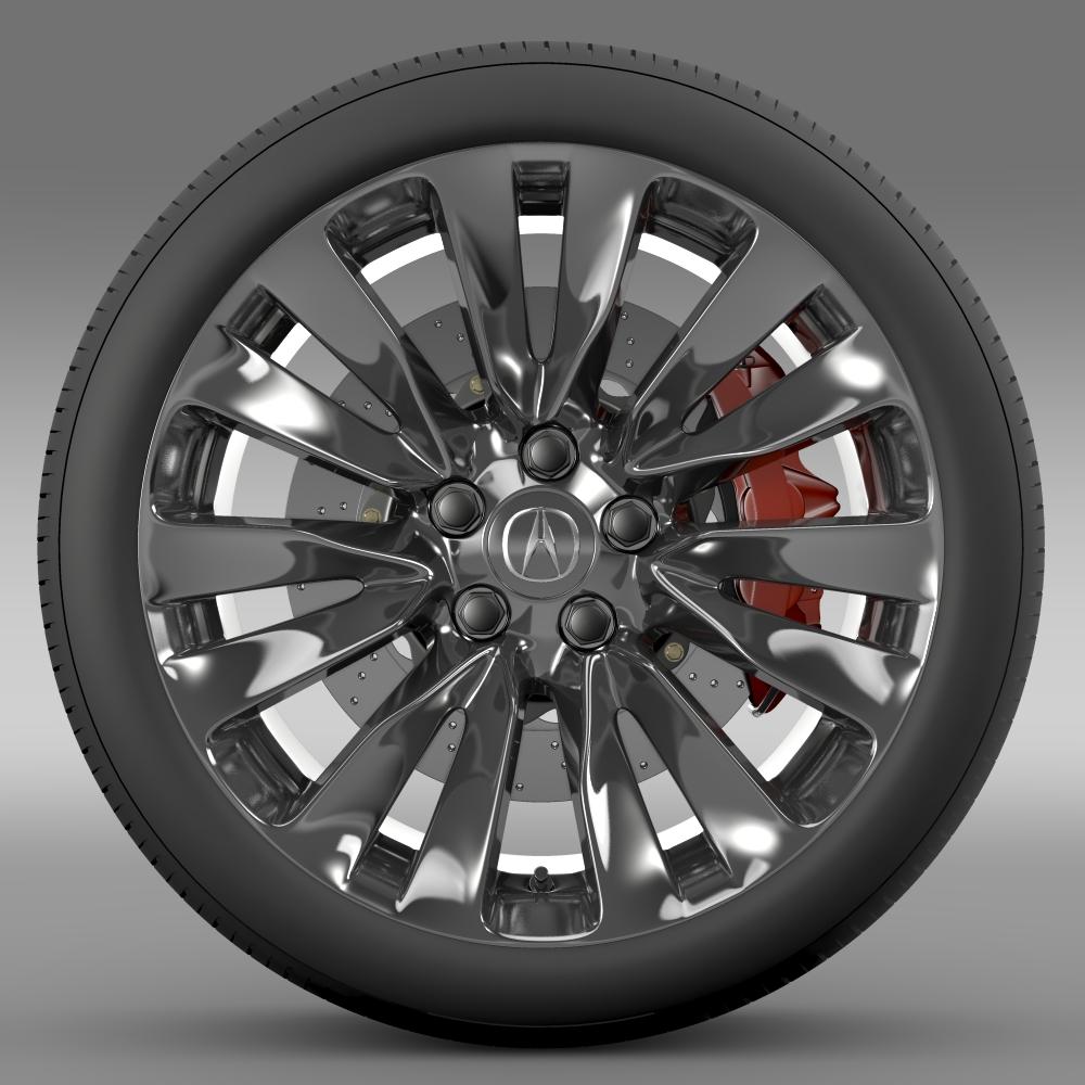 acura rlx wheel 3d model 3ds max fbx c4d lwo ma mb hrc xsi obj 212692