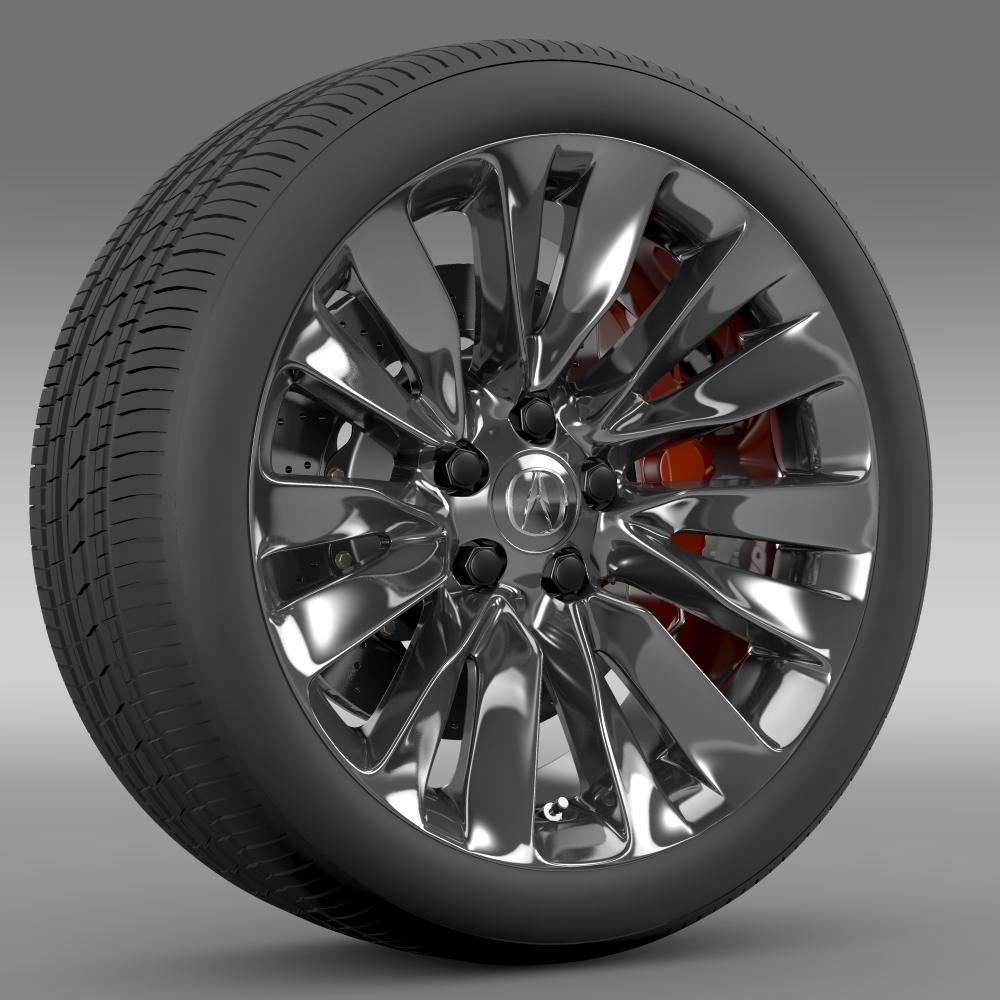 acura rlx wheel 3d model 3ds max fbx c4d lwo ma mb hrc xsi obj 212693
