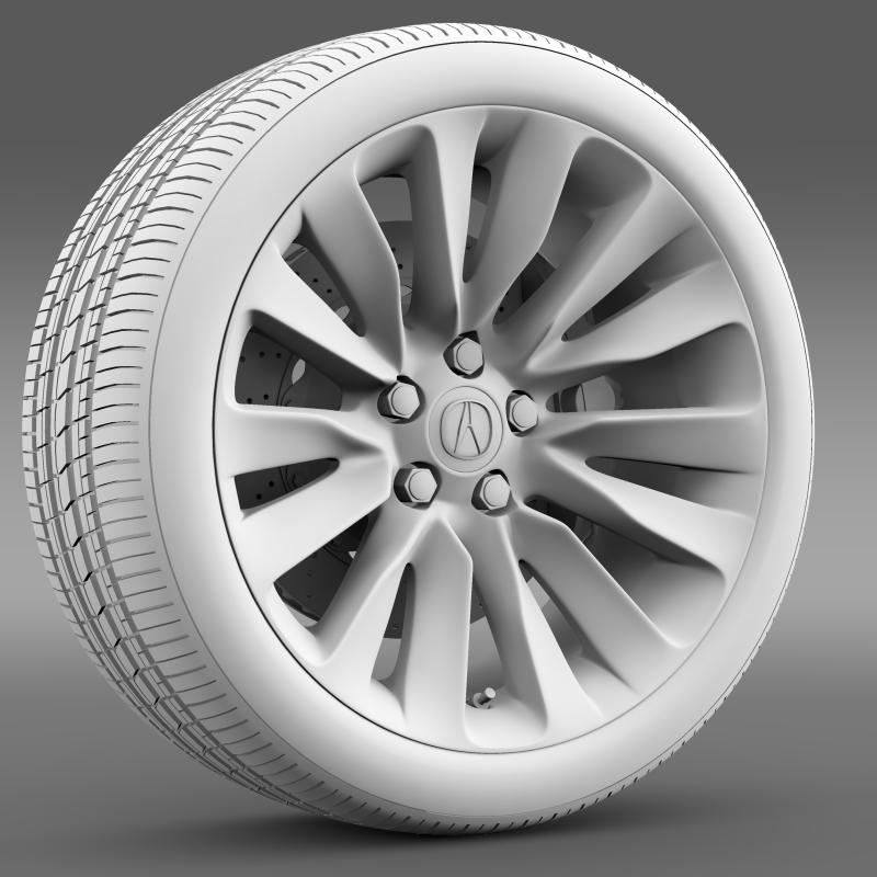 acura rlx wheel 3d model 3ds max fbx c4d lwo ma mb hrc xsi obj 212697