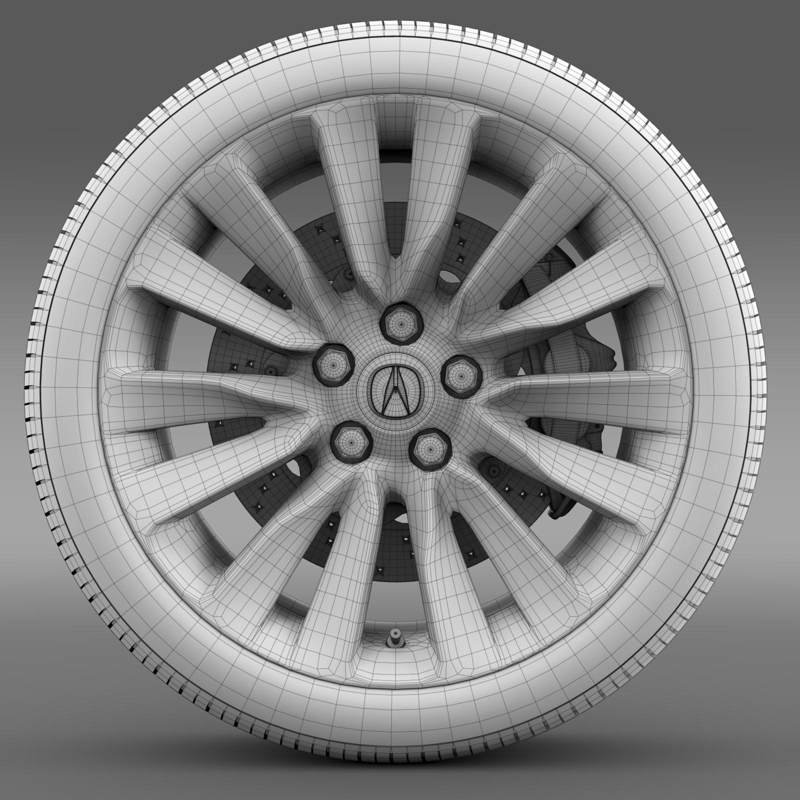 acura rlx wheel 3d model 3ds max fbx c4d lwo ma mb hrc xsi obj 212698