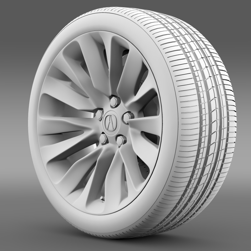 acura rlx wheel 3d model 3ds max fbx c4d lwo ma mb hrc xsi obj 212699